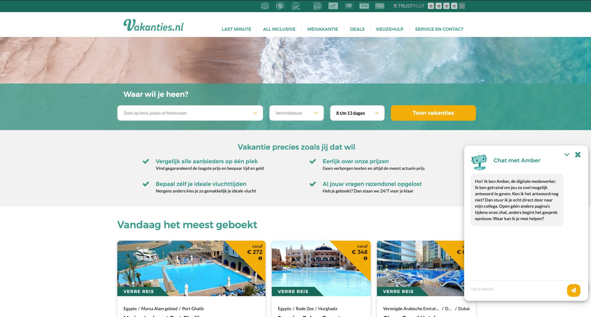 Vakanties.nl Chatbot